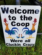 New 9x12 Aluminum Sign Chickens Crazy Coop