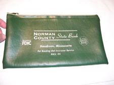 Vintage Norman County State Bank Deposit Bag Hendrum MN Minnesota