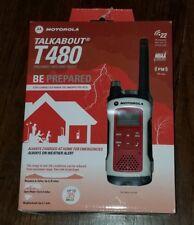 New Motorola Emergency Talkabout T480 Walkie Talkie Two Way Radio NOAA FMS/GMRS