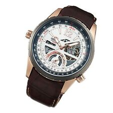 Orient Watch Semi Skeleton Classic Automatic Men's Leather rose gold FFT00009W0