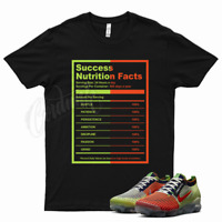 Black SUCCESS T Shirt for Nike Vapormax Flyknit 3 Exeter Edition Orange Volt