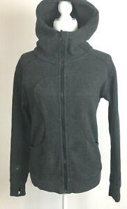 Lululemon Athletica Women's 6 Hoodie Jacket Full Zip Long Sleeve Stretch Gray