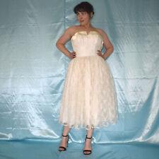 Corto Encaje Vestido de Novia sin Tirantes XS Crema Strand Novia, Baile