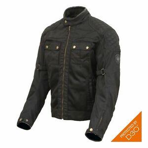 Merlin Shenstone Cotec waxed D30 armoured air flow summer motorcycle jacket