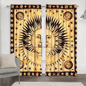 Indian Sun Bohemian Hippie Mandala Curtain Cotton Drapes Hanging Window Decor