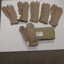 NEW US MILITARY NOMEX FLIGHT GLOVES DESERT TAN SIZE 6 SMALL CASE BOX OF 6 EA