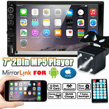 """Mirror Link For GPS Double 2Din 7"""" Car Stereo + Backup Camera Touch Screen Radio"""