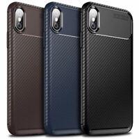 Case for iPhone Carbon Fibre Soft Cover TPU Silicone Slim 11 X XR Max 8 7 6 Plus