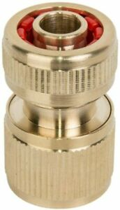"""1/2"""" Brass Hose Connector Garden Watering Water Hose Pipe Tap Adaptor Fitting"""