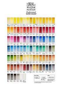 Winsor & Newton Artitsts Watercolour Half Pans. Professional. Oranges & Reds