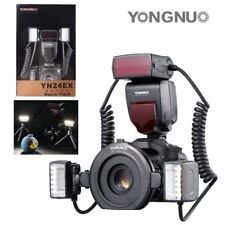 Yongnuo YN24EX TTL Macro Master Speedlite 2 Flash Head 4 Adapter Ring for Canon