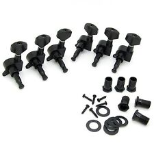 6R Right Black Electric Guitar String Tuning Pegs Keys Tuners For Strat Tele