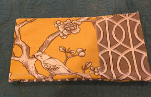 """Dwell Studio Fabric Pillow Cover 15.5"""" width x 8.5"""" length, Reversible"""
