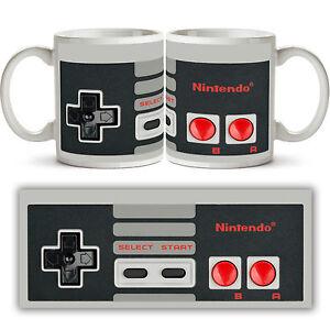 Nintendo NES CONTROLLER CERAMIC MUG Retro Gaming Arcade Tea Coffee Cup Gift New