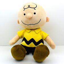 "Charlie Brown Peanuts Kohls Cares Plush Toy Doll Peanuts Yellow Shirt 9"" Gift"
