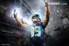 NFL Seattle Seahawks Superbowl Doug Baldwin 24x36in Poster #Louder Banner
