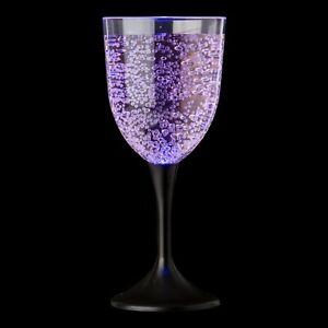 Ultra 2 LED Wine Glasses Light Up Flashing Glasses Colour Changing Flutes Goblet