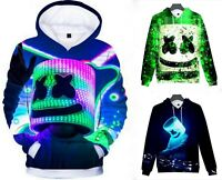 Marshmello Hoodie Top Kids Hooded Jumper Sweatshirt Pullover Coat Jacket Outwear