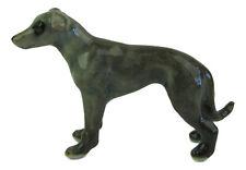 Miniature Porcelain Greyhound Blue-Grey dog Figurine Approx 2cm High (TINY)