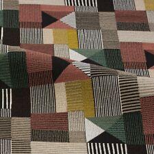 Designtex Modern Geometric Fabric- Geometric II Red Yellow Green 1.6 yd 3836-901