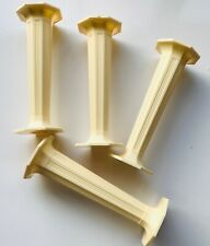 "4 x Ivory Octagon PILLARS Columns Cake Support Decorate 4.5""inch long Sugarcraft"