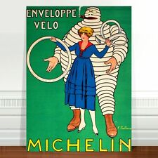 "Vintage Auto Advertising Poster Art ~ CANVAS PRINT 16x12"" Michelin Tyres"