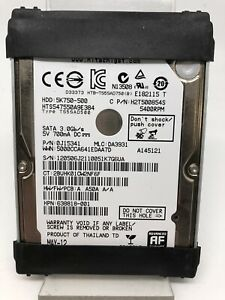 Internal Hard Drive 2,5 Inch HDD 500GB Hitachi Model HTS547550A9E384 D' Used