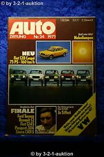Auto Zeitung 24/71 Fiat 128 Coupe Range Rover Jo Siffert + Poster