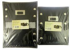 2X Negro Cajas Almacenaje Duro Oficina Hogar Almacenamiento de Papel 30.5cm X