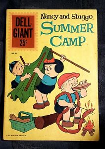 Nancy And Sluggo Summer Camp 1961 Dell Giant 45 VG with Free Shipping