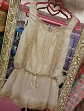 **US SELLER**EMBROIDERY LACE GYARU LIZ LISA SNIDEL JUMPER DRESS SHIBUYA JAPAN