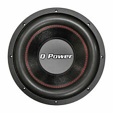 "Qpower QPF12D 12"" Woofer Deluxe Series Dvc Chrome Basket 70oz. Magnet 1700 Watts"