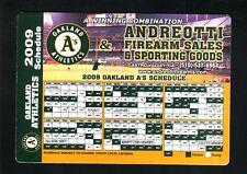 Oakland Athletics--2009 Magnet Schedule