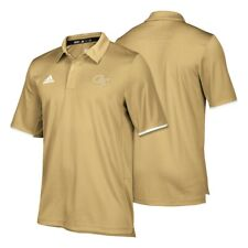 Georgia Tech Yellow Jackets NCAA Adidas Men's Sideline Sand Climalite Polo Shirt