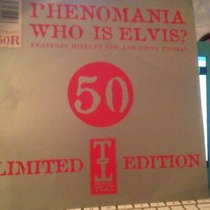"Phenomania Who is Elvis? Part two 12""  record vinyl"