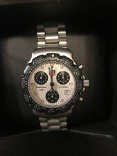 Vintage TAG Heuer F1 Formula One Chronograph CA 1212-RO Rare Panda Dial