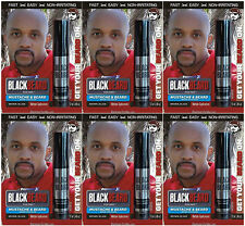 Blackbeard for Men Hair Colour Dye Mascara Beard Moustache Eyebrows  BROWN BLACK