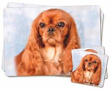 Ruby King Charles 'Love You Dad' Twin 2x Placemats+2x Coasters Set in, DAD-112PC