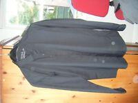 Topman slimfit black shirt long sleeved medium chest 38-40 ins