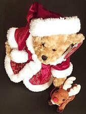 "Nova Plush The Cherish Collection 2010 14"" Christmas Bear W/reindeer"
