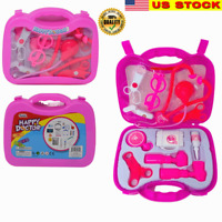 Toy Medical Kit Kids Pretend Play Doctor Kit Playset Carrying Case 11 PCS