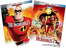The Incredibles / Incredibles 2 Blu Ray / Dvd Digital Bundle New Free Shipping
