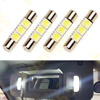 2 x Vanity mirrors festoon 23mm for Nissan Titan sun visor led HID Xenon white*