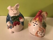 Vintage 1987 Fitz And Floyd Bacon And Eggs Salt And Pepper Shakers