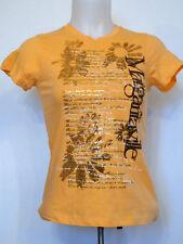 Margaritaville Song Lyrics Cap Sleeve Ladies Light Orange Shirt T-Shirt XS