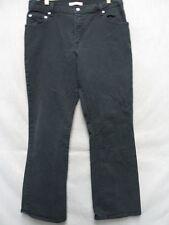 D1920 Levi's 550 Relaxed Black Boot Cut High Grade Stretch Jeans Women 34x30