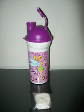 Tupperware Disney Tinkerbell Thirstbreak Tumbler Purple On-the-Go Strap Rare New