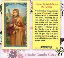 Saint Simon the Zealot - Prayer to St Simon the Apostle - Laminated Holy Card