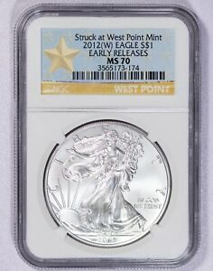 2012 W NGC MS70 Early Releases American Silver Eagle Item#J7441