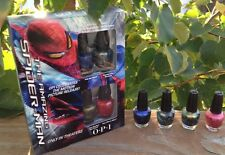 The Amazing Spiderman (2012 Collection) Mini Nail Lacquers By OPI NIB